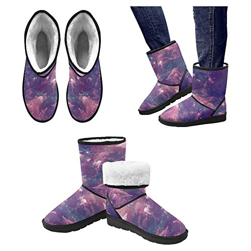 Winter Designed InterestPrint 4 Boots Snow Multi Unique Boots Womens Comfort BxBZ4nTF