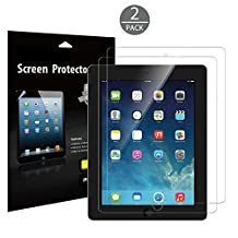 iPad Screen Protector, JETech 2-Pack Screen Protector Film for Apple iPad 2/3/4, Bubble Free Installation, Anti-Fingerprint, Retail Packaging (HD Clear) - 0332