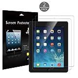 JETech 2-Pack iPad 2 3 4 Screen Protector PET Film for Apple iPad 2 3 4 (Oldest iPad Version) - Bubble Free Installation - Anti-Fingerprint (HD Clear) - 0332