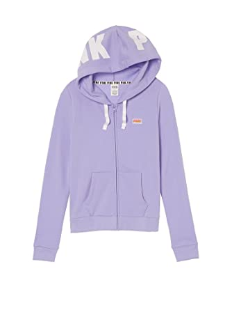afdd969442816 Victoria's Secret PINK Perfect Full-Zip Hoodie Shadow (X-Small) at ...