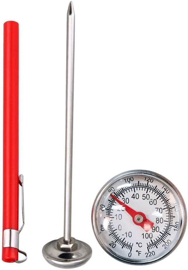 PoeHXtyy Edelstahl Bodenthermometer 127mm Stiel f/ür Bodenkompost Gartenboden