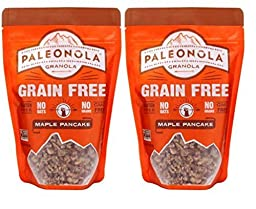 Paleonola Grain Free Gluten Free Non-GMO Granola, Maple Pancake Flavor - Pack of 2, 10 Oz. ea.