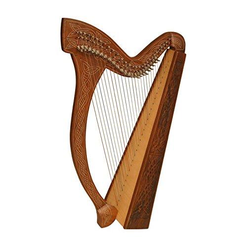 Minstrel Harp TM, 29 Strings, Knotwork by Roosebeck