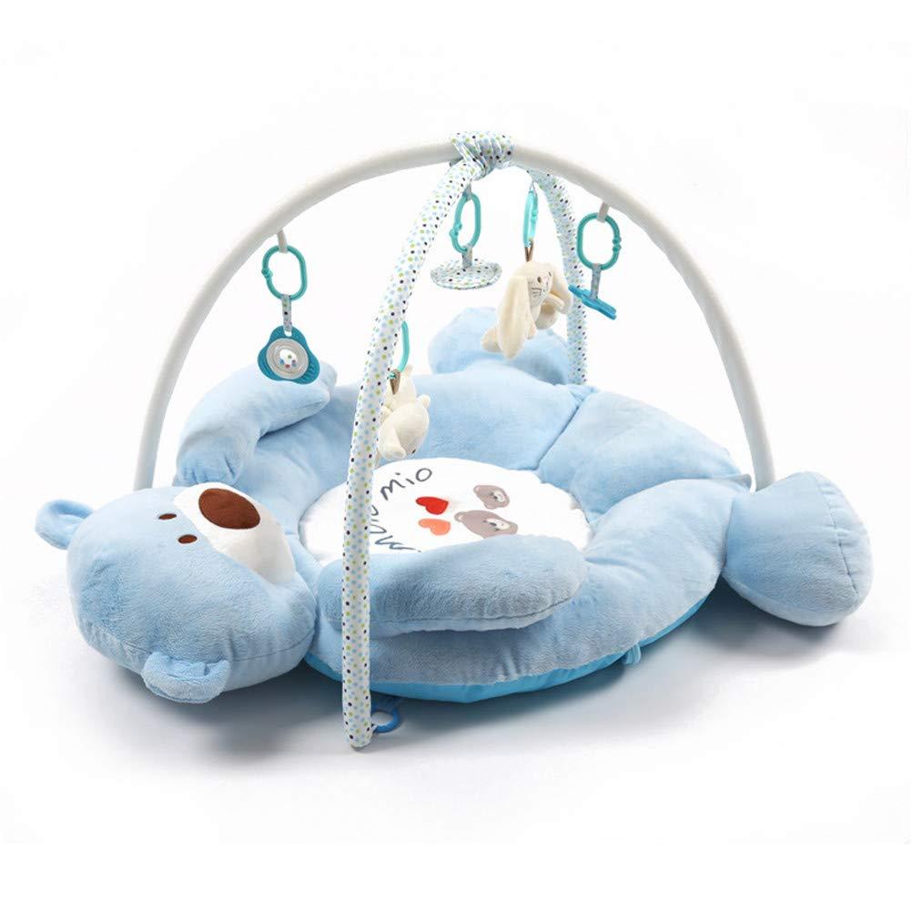 JLCP Baby Luxury Gym Play, Neugeborene Aktivität Gym Puzzle Frühes Lernzentrum Musik Krabbeln Decke Fitness Rack Spielzeugkiste,Rosa Blau