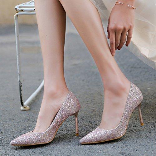 Zapatos de Tacón Alto con Zapatos de Cristal Do