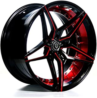 Inch Rims Black And Red Full Set Of  Wheels Made