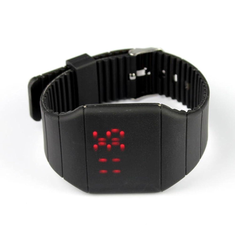 buyeonline Girl Boy防水デジタルLEDタッチスポーツシリコンブレスレット腕時計ブラック。 B06XQWLCHY