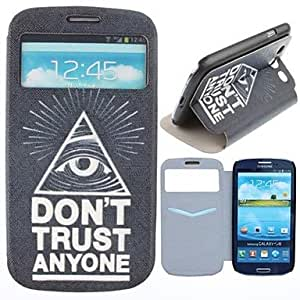 JJE Triangle Eyes Pattern PU Leather Full Body Case with Card Slot for Samsung Galaxy S3 I9300
