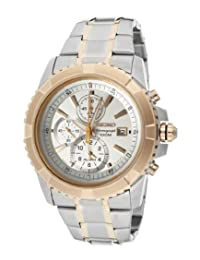 Men's Lord Chronograph Alarm White Dial Two Tone Stainless Steel