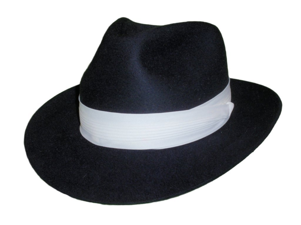 D Bar J Hat Brand, Female, Fedora, Size 7, Navy by D Bar J Hat Brand