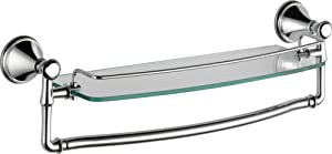 Delta Faucet 79710 Cassidy 18-Inch Glass Shelf with Bar, Chrome