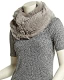 Jocelyn Womens Silver Cloud Infinity Scarf, Grey