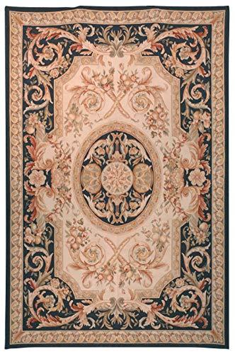 (Safavieh AU308D-8 Aubusson Collection Area Rug, 8' x 10', Ivory)