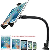 """Heavy Duty Car Truck Limo Fleet Van Truck Floor Seat Mount for iPad Pro Air Mini 7""""-12"""" Screen Tablets & All Smartphone iPhone XR XS X (for Cars, Vans, Large Trucks : Great for Telematics and Fleets)"""