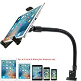 "Heavy Duty Car Truck Limo Fleet Van Truck Floor Seat Mount for iPad Pro Air Mini 7""-12"" Screen Tablets & All Smartphone iPhone 11 XR XS X (for Cars Vans Simi Trucks: Great for Truckers and Fleets)"