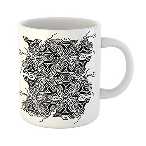- Semtomn Funny Coffee Mug Geometric Optical Vibration Triangles Black and White Colors Pattern 11 Oz Ceramic Coffee Mugs Tea Cup Best Gift Or Souvenir