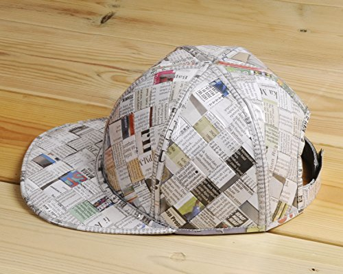 Cap hat made using upcycled newspaper - Free standard shipping - Upcycling by Milo