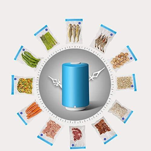 Mini Cibo Vuoto Di Tenuta Della Macchina, Automatico Portatile Vacuum Sealer, Vuoto Tenuto in Mano Per I Sacchetti Di Plastica Alimentare Bagagli Snack Fresco Bag Sealer,Blu