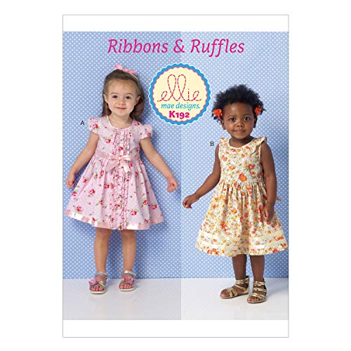 KWIK-SEW PATTERNS K0192 Toddlers' Dresses, All Sizes in One Envelope (T1 - T4)