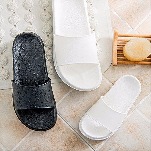 rocío Cool plástico YMFIE casa Par Ducha Toe y de Zapatillas de Antideslizante Coffee xO4qIR4C