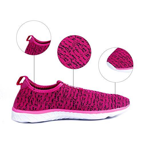 Chaussures Sneaker le L'eau Activités Sur Chaussures Bas de Drainage rose Marche Légères de L'eau de Pour de Nautiques de les Avec KEALUX des Trous de Pieds Femmes Rapides nus amp;noir Hommes Sport q7XwPxnaT