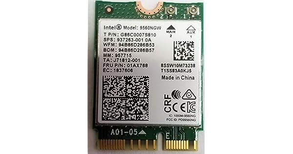 Amazon.com: Intel Wireless-AC 9560, M.2 2230, 2X2 Ac+Bt ...