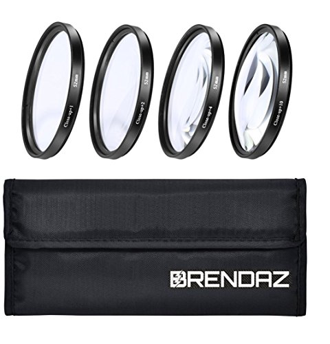 BRENDAZ (58mm) +1 +2 +4 +10 Close-Up Macro Filter Set with Pouch for CANON Rebel T6i T6 T6s T5i T5 T4i T3i T2i T1i XT XTi XSi, EOS 750D 760D 650D 600D 550D and with all Lenses with a 58mm Filter Size