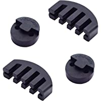 Rubber Violin Practice Mute Combo, 2 Pack Claw Style & 2 Pack Round Tourte Style Mute for Violin, Ultra Practice…