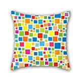 NICEPLW geometry throw pillow covers ,best for gril friend,couch,divan,car,saloon,dining room 20 x 20 inches / 50 by 50 cm(twin sides)