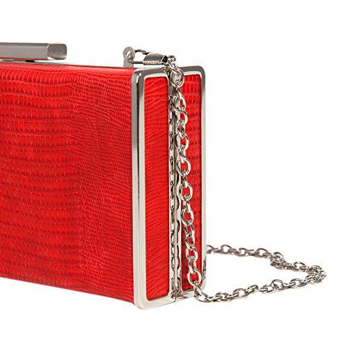 Women Party Parfois Clutch Window Red XUqW5t8