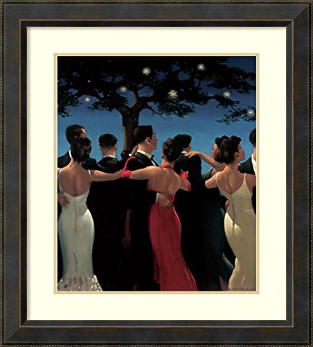 - Framed Wall Art Print   Home Wall Decor Art Prints   Waltzers by Jack Vettriano   Traditional Decor