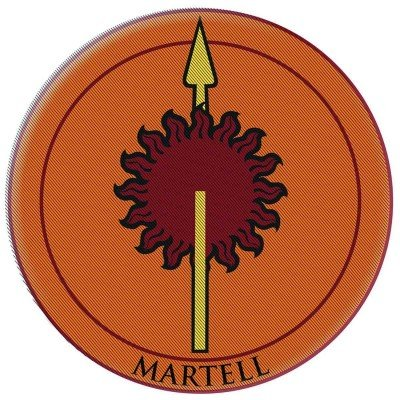 Black Widow Comic Book Costume (Game of Thrones Patch - Martell: Embroidered Patch)