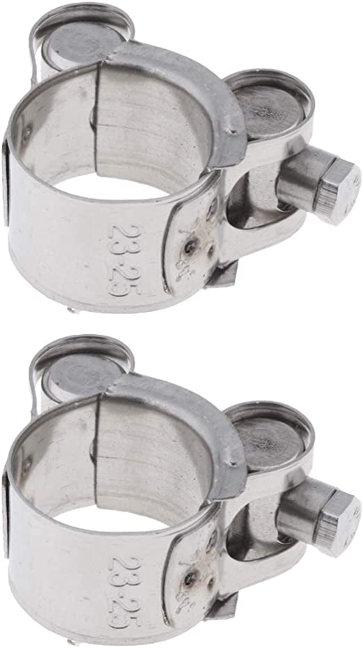 B Blesiya 2 Stücke Silber Auspuffrohrschelle Innendurchmesser 23 25mm Auspuff Schelle Auspuffschelle Rohrschelle Auto