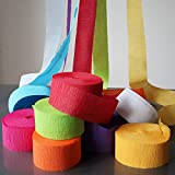 My Party Suppliers Decorative Ribbon Crepe Paper Streamer Roll (Pack of 12)