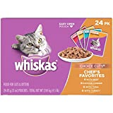 WHISKAS CHOICE CUTS Chef's Favorites Variety Pack Wet Cat Food 3 Ounces (Pack of 24)