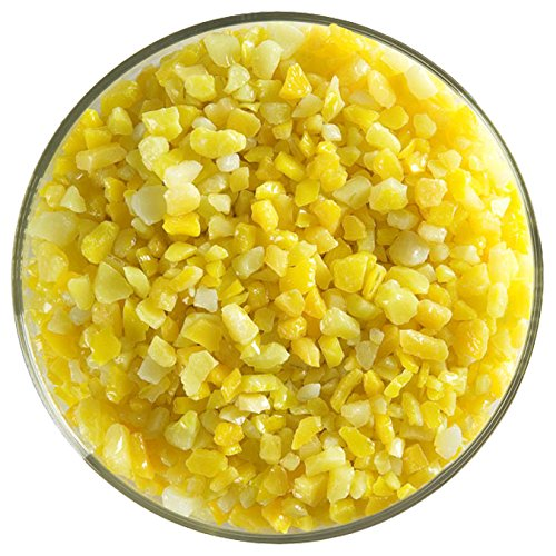 Sunflower Yellow Opalescent Fusible Glass Coarse Frit - 4oz - 90COE - Made From Bullseye Glass