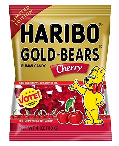 Haribo of America Gold Bears Bags, Cherry, 12 Count