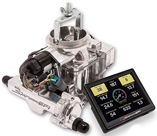 NEW HOLLEY SNIPER EFI BBD CARBURETOR,SHINY,2BBL,FUEL INJECTION,COMPATIBLE WITH 1971-1986 JEEP CJ WITH 258CI 6 CYLINDER ENGINES