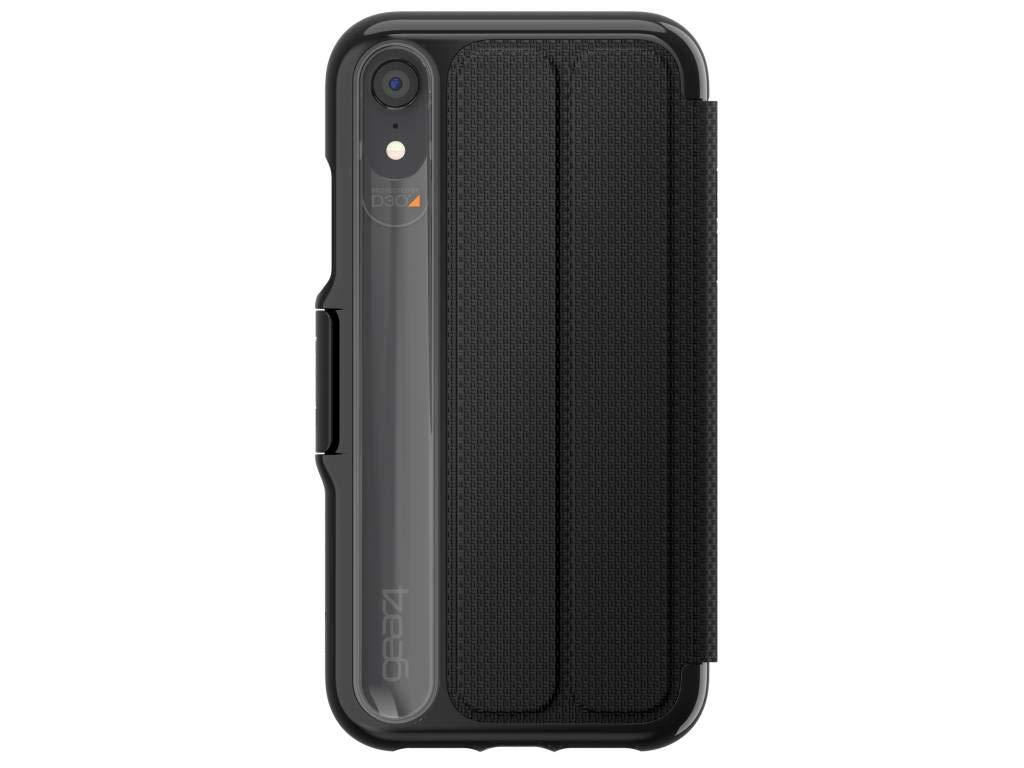 cded61860977c Gear4 Oxford Folio Case with Advanced Impact Protection [ Protected by D3O  ], Stand Function, Card Slots, Slim, Tough Design Compatible with iPhone XR  ...
