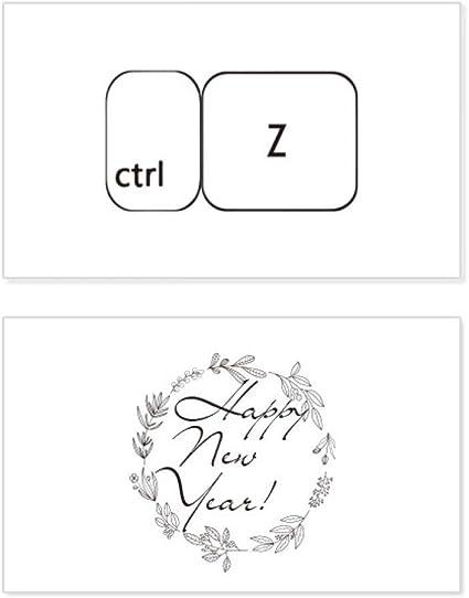 Teclado símbolo ctrl Z Año Nuevo Tarjeta Conmemorativa ...