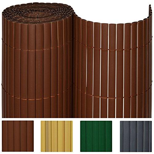 Sol Royal® PVC Sichtschutz-Zaun - 120x1000cm in Braun - Kunststoff-Matten für Garten oder Balkon - alle Größen