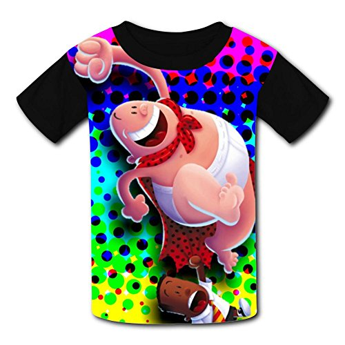 Custom Kids Captain-Underpants Tee Shirt T-Shirt for Children Boys Girls M by Mtui10