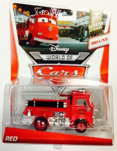 amazoncom disney cars radiator springs edition red fire truck deluxe mattel oversize package toys games - Disney Cars Toys Truck