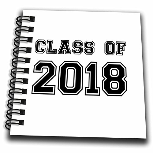 InspirationzStore Typography - Class of 2018 - Graduation gift - graduate graduating high school university or college grad black - Mini Notepad 4 x 4 inch (db_162669_3)