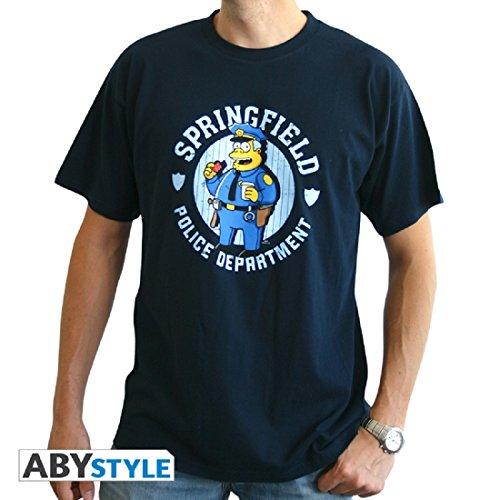 T M Navy Homme shirt Blue Simpsons