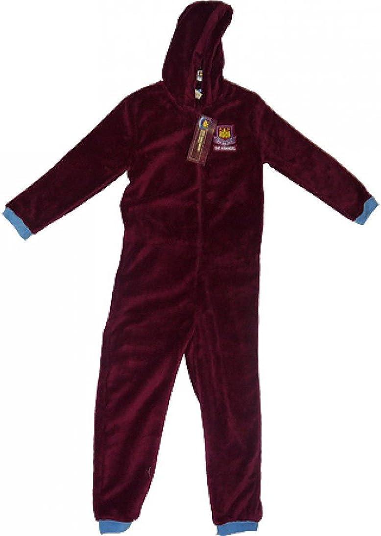 Mens WEST HAM FC Fleece Onesie Size Medium Claret