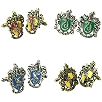 Outlander Gear Harry Potter 4 Pairs Hogwarts Crests Superhero 2018 Movie Mens Boys Cufflinks