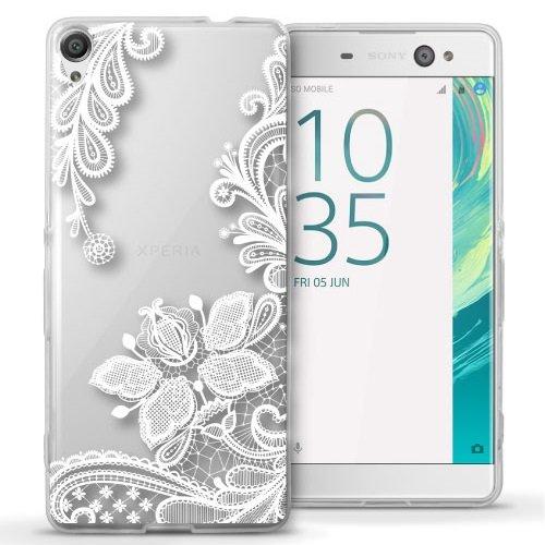 f2442f24a32 Funda Para Celular Sony Xperia XA Ultra - Encaje Transparente con Blanco