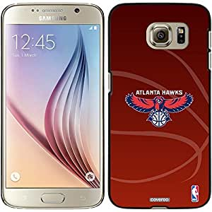 Coveroo Samsung Galaxy S6 Black Thinshield Case with Atlanta Hawks BBall red Design