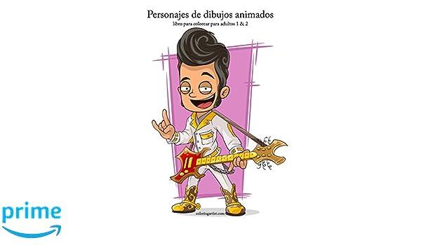 Amazon.com: Personajes de dibujos animados libro para colorear para ...